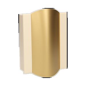 Dzwonek elektromechaniczny dwutonowy TON COLOR 8V, beżowo-złoty