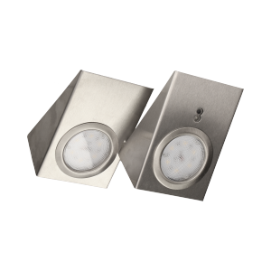 Zestaw opraw podszafkowych LED 2,5W, 180lm, 4000K, z wyłącznikiem bezdotykowym, INOX