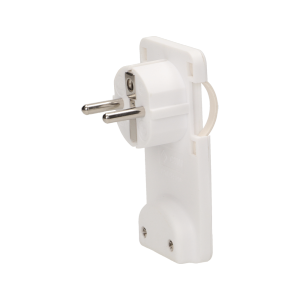 Flat plug with handle, white