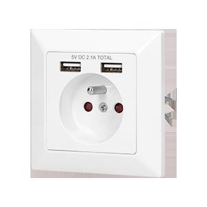 Gniazdo elektryczne z ładowarką USB