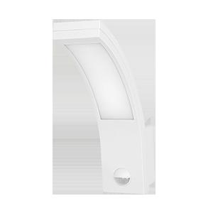 PIRYT LED 10W, oprawa ogrodowa z czujnikiem ruchu 140st, 850lm, IP54, 4000K, biała