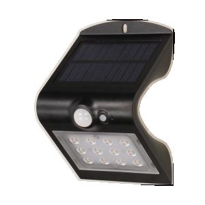 SILOE LED Gartenleuchte, SILOE LED mit Bewegungsmelder, schwarz