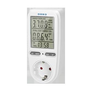 Wattmeter, Energiekostenmessgerät / Stromverbrauchszähler mit Großer LCD-Bildschirm, Schuko Variante