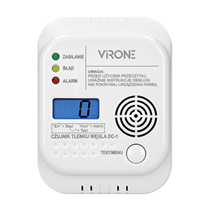 Battery operated carbon monoxide detector