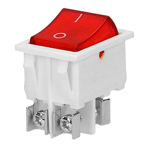 Rocker switch with backlight, white