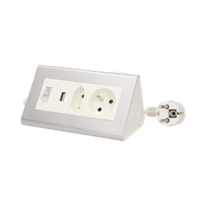 Desktop extension socket with switch and USB charger