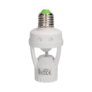 Lamp bulb socket with PIR motion sensor