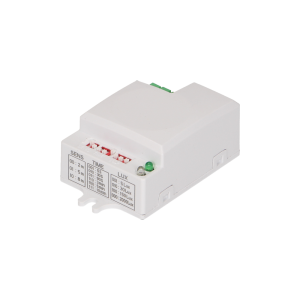 Mini, flat microwave sensor 360° with DIP switch