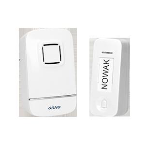 KINETIC AC dzwonek bezprzewodowy, 230V z learning system i bezbateryjnym przyciskiem