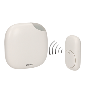 LOGICO DC dzwonek bezprzewodowy, bateryjny z learning system i funkcją alarmu