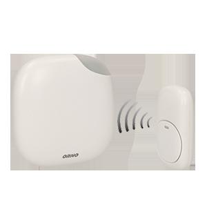LOGICO AC dzwonek bezprzewodowy, 230V z learning system i funkcją alarmu
