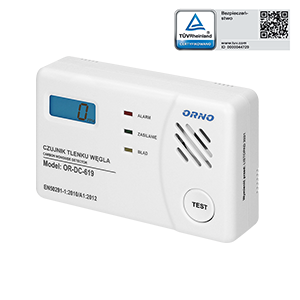 Battery operated carbon monoxide detector - test
