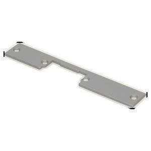 Szyld prosty, symetryczny, krótki, niklowany,159 mm