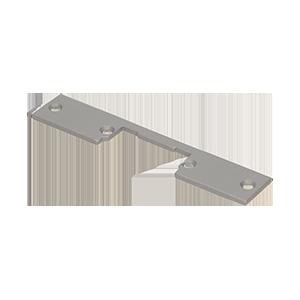 Faceplate straight, short, nickel-coated