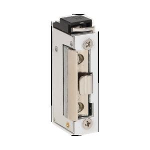 Elektrozaczep symetryczny z sygnalizacją  niedomkniętych drzwi, NISKOPRĄDOWY 280mA dla 12VDC