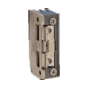 Elektrozaczep symetryczny z prowadnicą bez pamięci i blokady, MINI, NISKOPRĄDOWY 280mA dla 12VDC