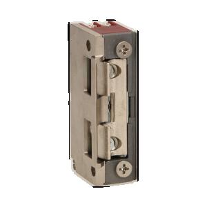 Elektrozaczep symetryczny z prowadnicą, rewersyjny, MINI, NISKOPRĄDOWY 280mA dla 12VDC