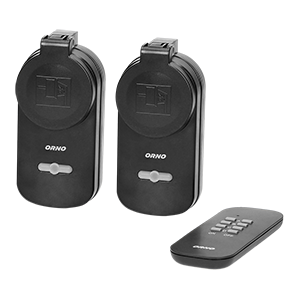 Outdoor wireless sockets with remote control, 2+1, IP44, Schuko