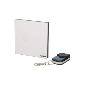Wireless, 2 gang touch switch with remote control