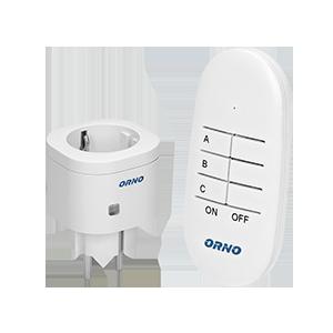 Mini wireless socket with remote control, 1+1, Schuko