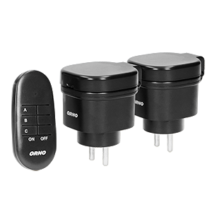Set of outdoor wireless sockets with remote control, 2+1