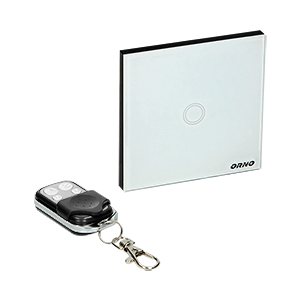 Wireless, 1 gang touch switch with remote control