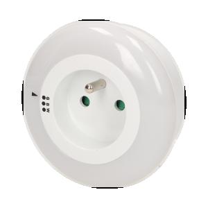 LED-Nachtlampe mit Steckdose 230V, rund