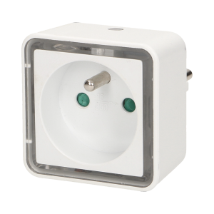 Plug-in LED night lamp with socket