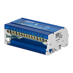 4-row power distribution block, 15 cables