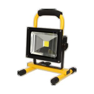ROBOTIX LED COB 20W naświetlacz roboczy, przenośny z akumulatorem, 800lm, IP44, 6000K, 4400mAh