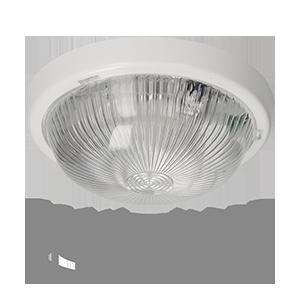 Leuchte FEN mit Mikrowellensensor, 360 Grad, Polycarbonat, transparentes