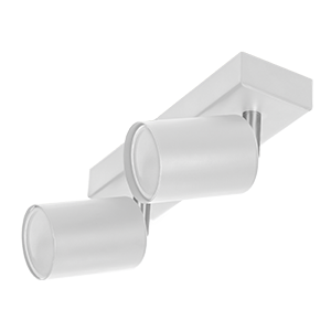 DOA SP 2l wall and ceiling light, GU10, max. 2x50W, IP20, white