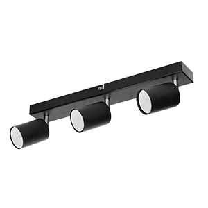 DOA SP 3l wall and ceiling light, GU10, max. 3x50W, IP20, black
