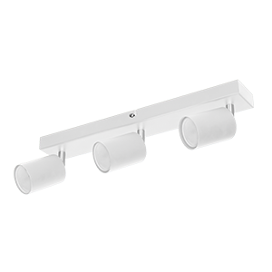DOA SP 3l wall and ceiling light, GU10, max. 3x50W, IP20, white