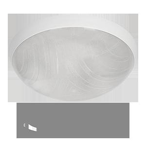 Plafond HELM mit Mikrowellensensor 360 Grad, Polycarbonat, transparent, 75W