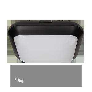 Plafon MONSUN LED z mikrofalowym czujnikiem ruchu, czarny, 15W