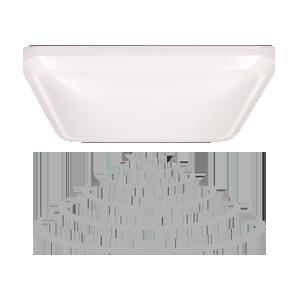 Plafon NYK LED z mikrofalowym czujnikiem ruchu 12W, biały
