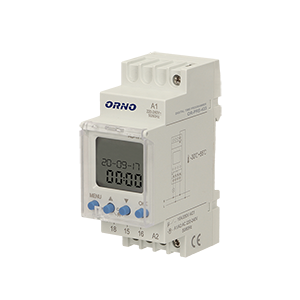 DIN rail weekly digital timer