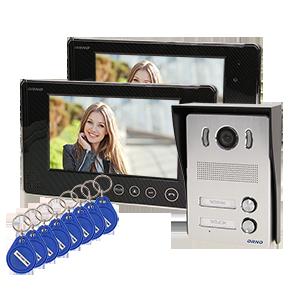 Zestaw wideodomofonowy 2-rodzinny bezsłuchawkowy, kolor, LCD 7