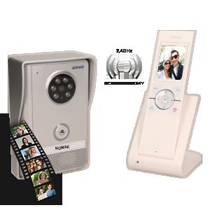 Zestaw wideodomofonowy, bezprzewodowy SEMIS MEMO 2,4