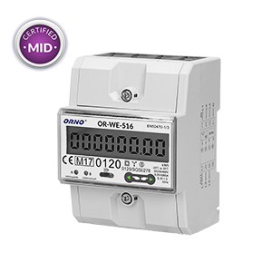 3-phase energy meter with RS-485, 80A