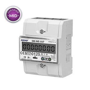 3-phase multi-tariff energy meter with RS-485, 80A