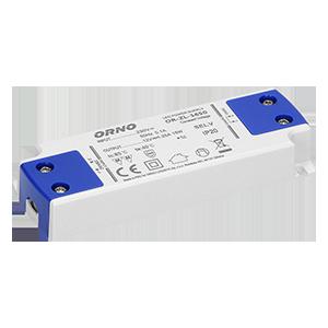 Zasilacz płaski do LED  12VDC 15W, IP20 , wysokość 16,5mm