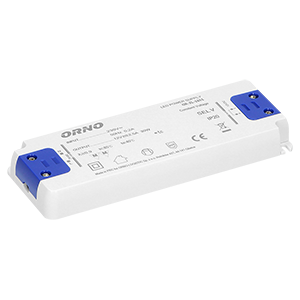 Flat power adaptor for LED, 12VDC 30W, IP20, height: 18mm