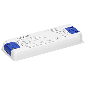 Flat power adaptor for LED, 12VDC 50W, IP20, height: 18mm