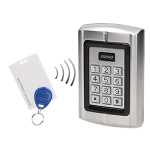 Code lock with card and proximity tags reader, IP44