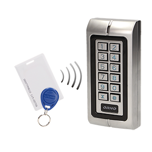 Code lock with card and proximity tags reader, IP68