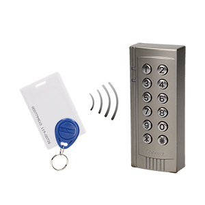Code lock with card and proximity tags reader, IP20