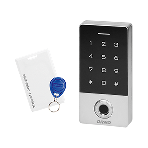Code lock with touch keypad, proximity tags/cards reader and fingerprint reader, IP68, 1 relay output (3A)