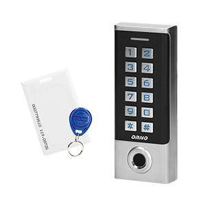 Code lock with digital keypad, proximity tags/cards reader and fingerprint reader, IP68, 1 relay output (3A)